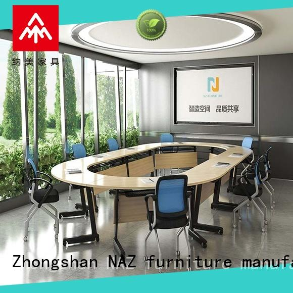 NAZ furniture professional conference room table and chairs on wheels