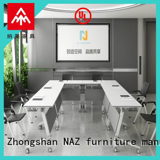 NAZ furniture w20002400d10001200h750mm portable conference room tables manufacturer for school