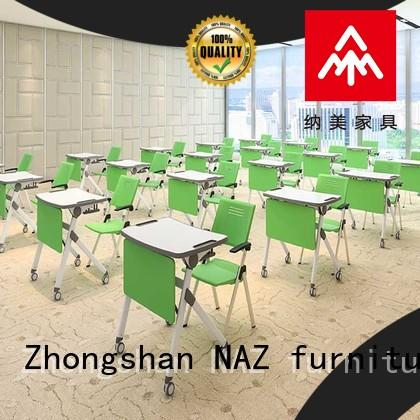 NAZ furniture simple fold up study desk on wheels for meeting rooms