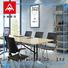 NAZ furniture durable white conference table on wheels