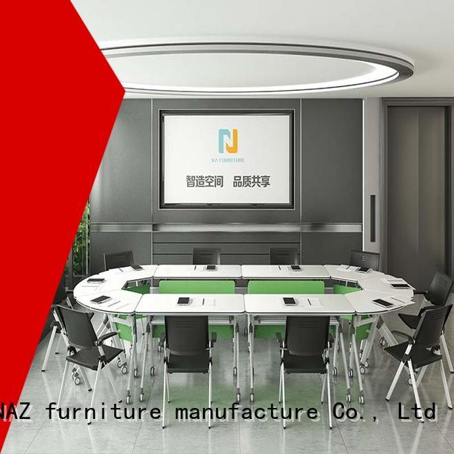 NAZ furniture movable modular conference table design manufacturer for training room