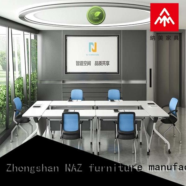 NAZ furniture movable folding conference room tables with wheels manufacturer