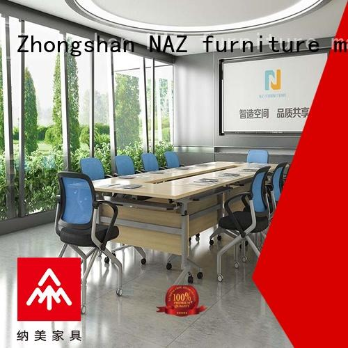 NAZ furniture comfortable folding conference tables on wheels for school