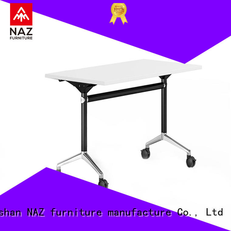 NAZ furniture 8001200140016001800mm flip top training tables with wheels for home