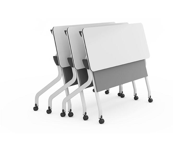 durable white conference table folding on wheels for meeting room-3