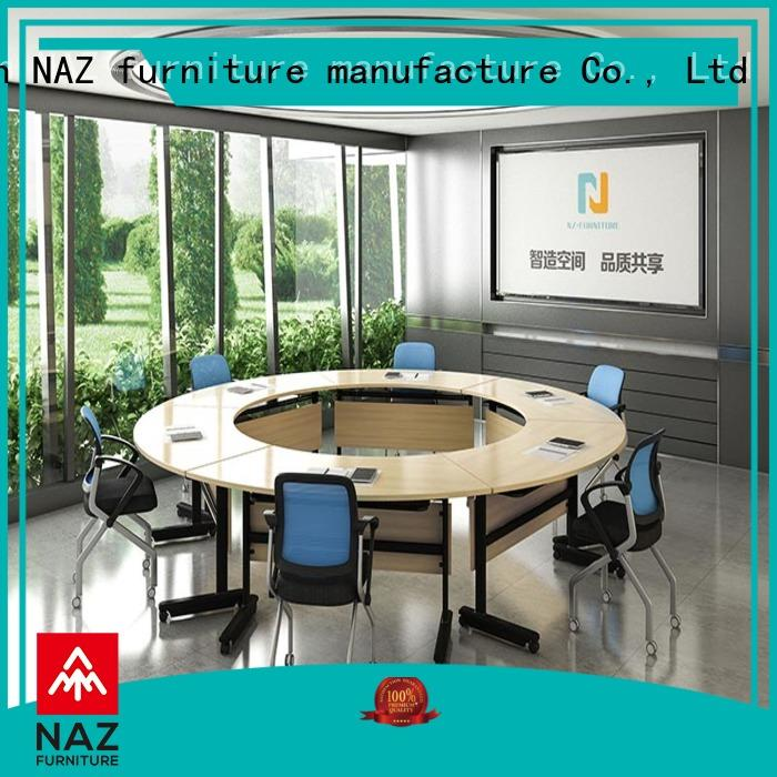 NAZ furniture movable portable conference room tables on wheels