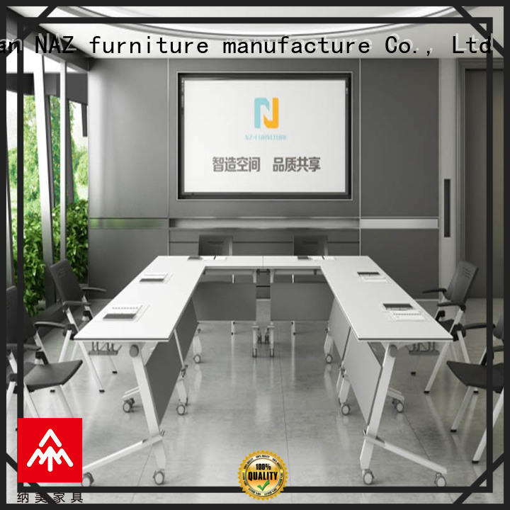 modern square conference table on wheels for school NAZ furniture