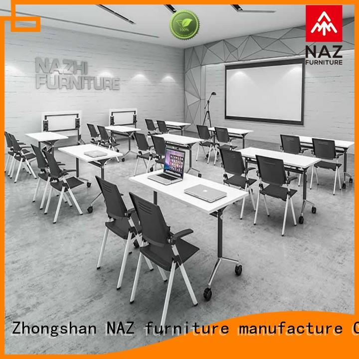 NAZ furniture comfortable folding conference tables for conference for school