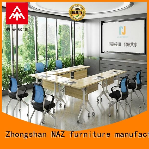 NAZ furniture movable square conference table manufacturer for meeting room