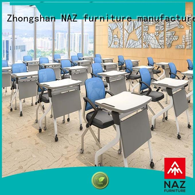 NAZ furniture modern fold up study desk factory for meeting rooms