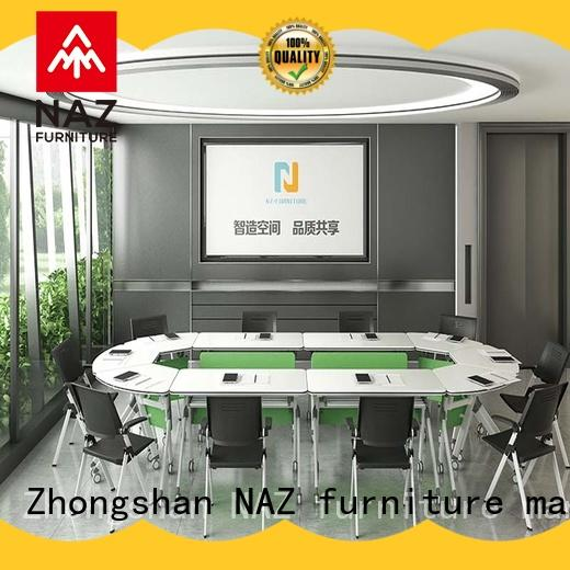 NAZ furniture comfortable white conference table for sale for office