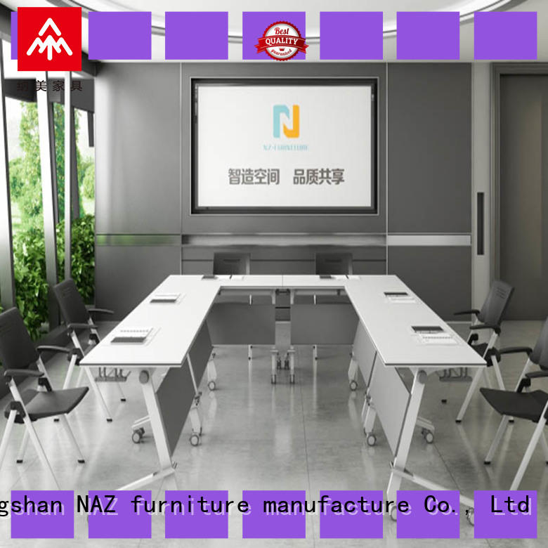 NAZ furniture movable portable conference room tables on wheels for training room