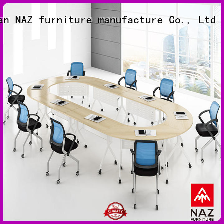 NAZ furniture ft016c folding conference room tables with wheels for conference for meeting room