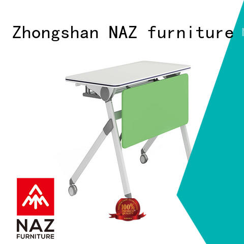 NAZ furniture writing training tables with wheels for conference for meeting room