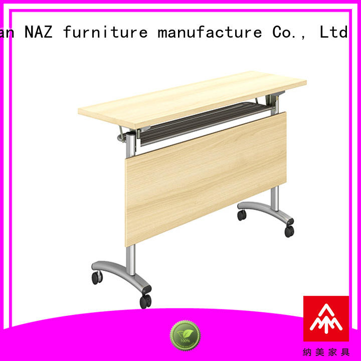 trapezoid training room tables panel with wheels for office