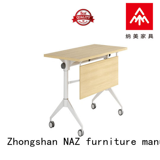 NAZ furniture trapezoid training tables and chairs supply for meeting room