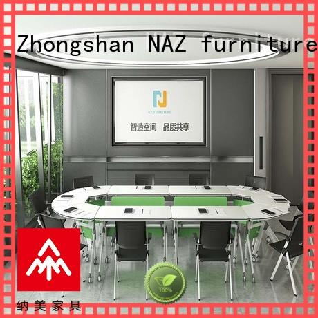 NAZ furniture simple folding conference tables on wheels