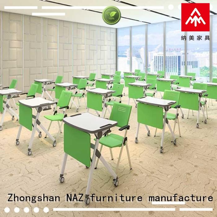 NAZ furniture school folding student desk on wheels for training rooms