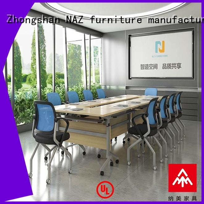 NAZ furniture movable folding conference table aluminum for training room