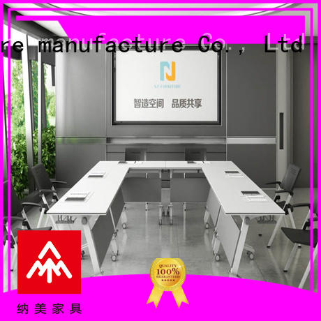 movable portable conference room tables alloy on wheels for meeting room