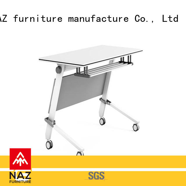 NAZ furniture trapezoid boardroom training table supply for school