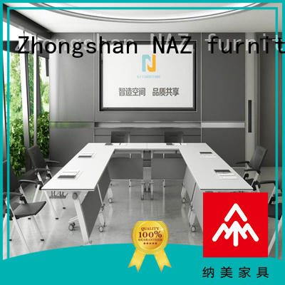 movable folding conference room tables with wheels ft005c for sale for training room