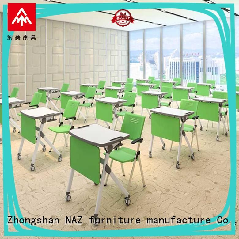 comfortable folding school table on wheels training rooms NAZ furniture