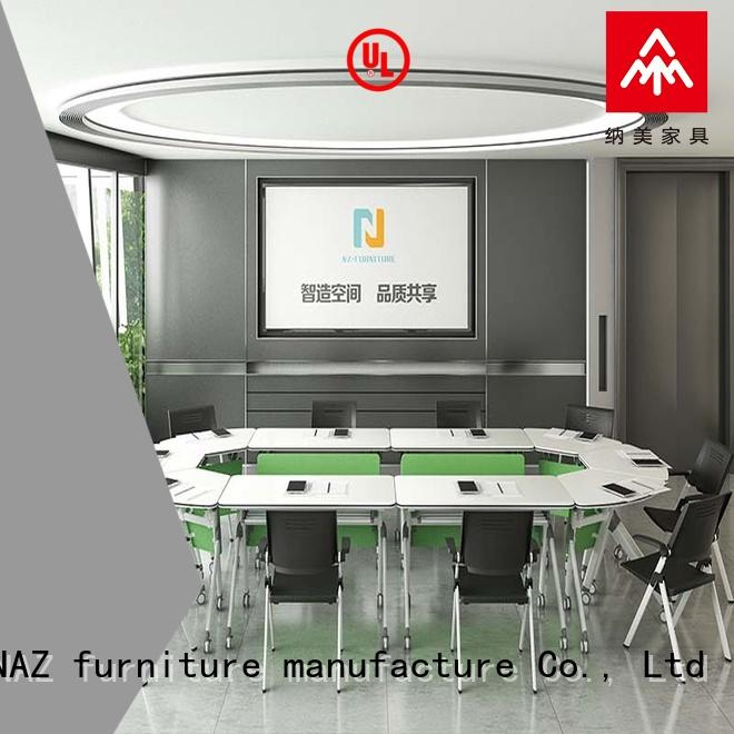 NAZ furniture nesting mobile conference table manufacturer for training room