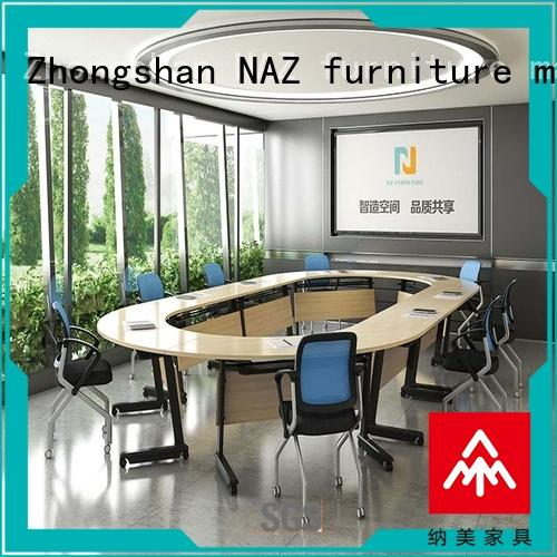 NAZ furniture comfortable foldable boardroom table ft010c for office