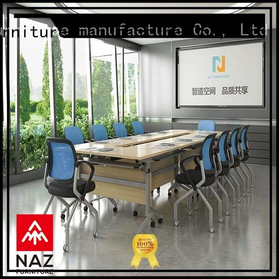 NAZ furniture durable flip top conference tables on wheels for school