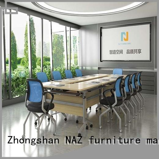 NAZ furniture movable 12 person conference table on wheels for meeting room
