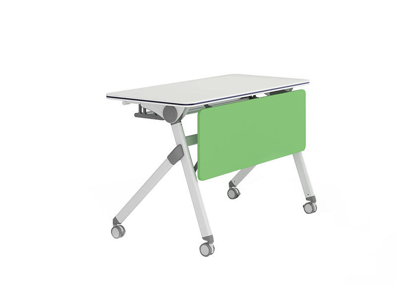 trapezoid training table design metal multi purpose for school-1