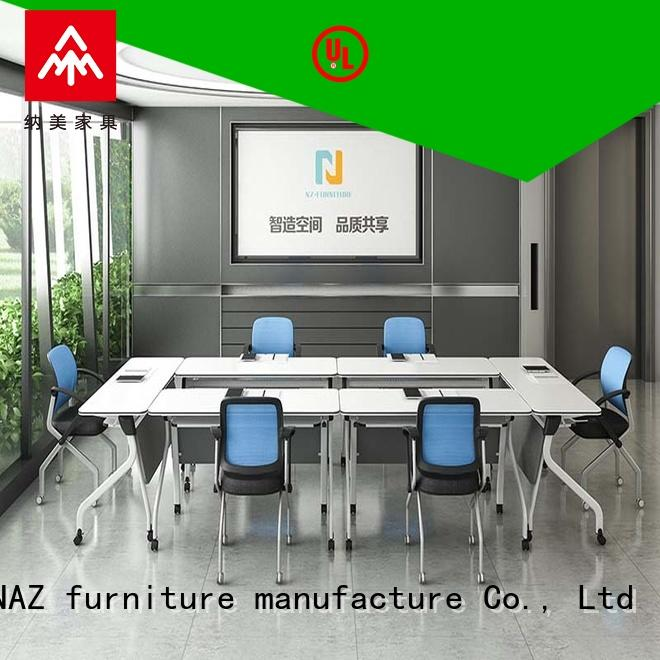 NAZ furniture movable oval conference table manufacturer for training room