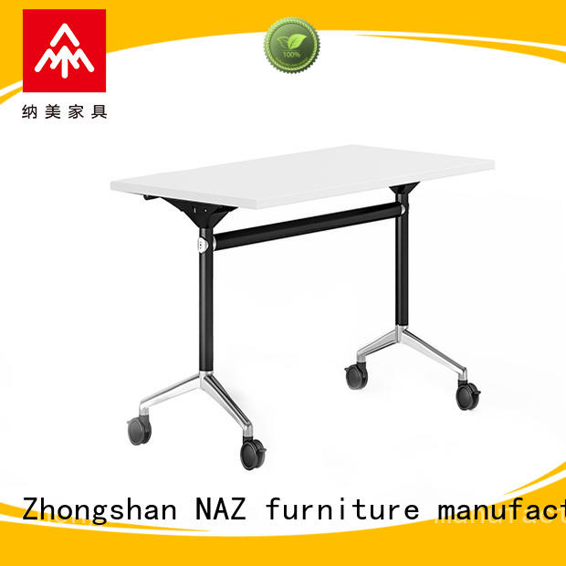 NAZ furniture ft008 flip top training tables with wheels for meeting room