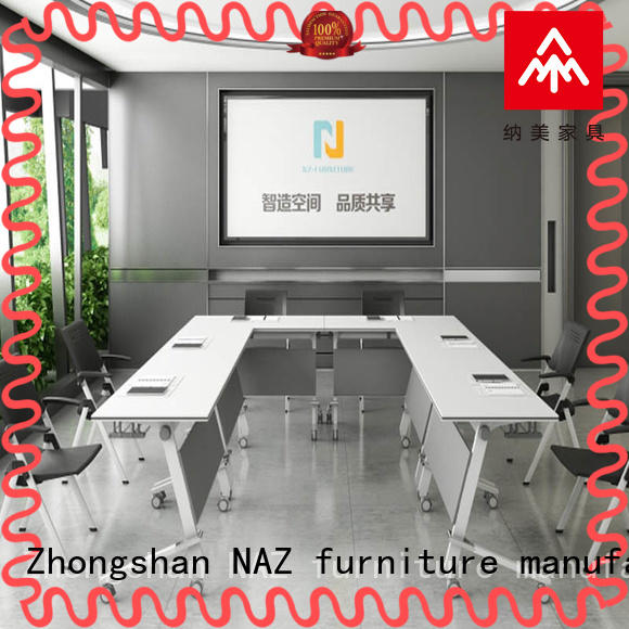 NAZ furniture movable 12 conference table on wheels