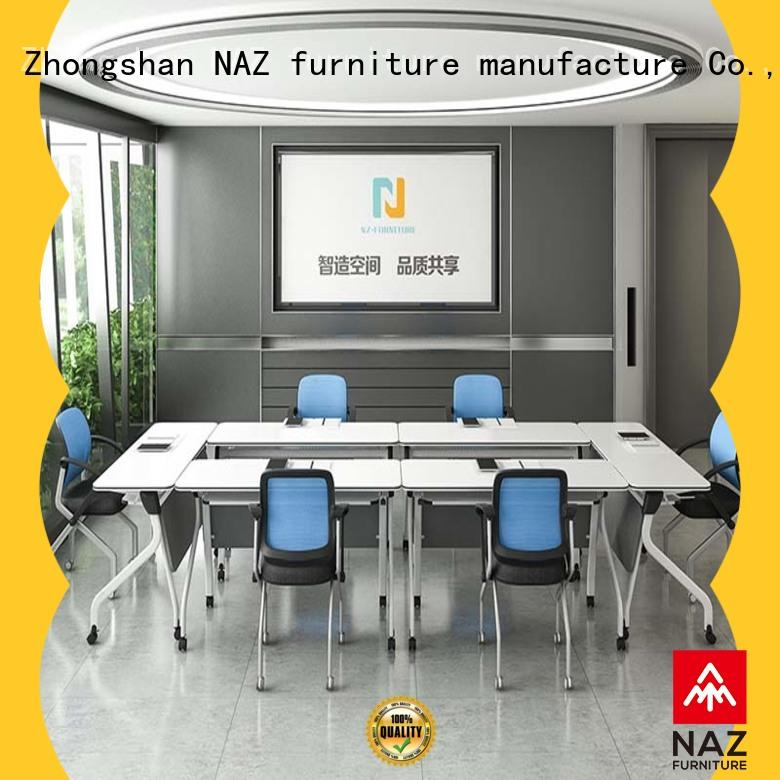 NAZ furniture durable conference room tables folding for conference for training room