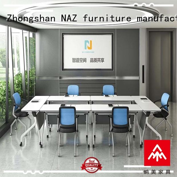 NAZ furniture comfortable folding conference room tables with wheels for sale for office