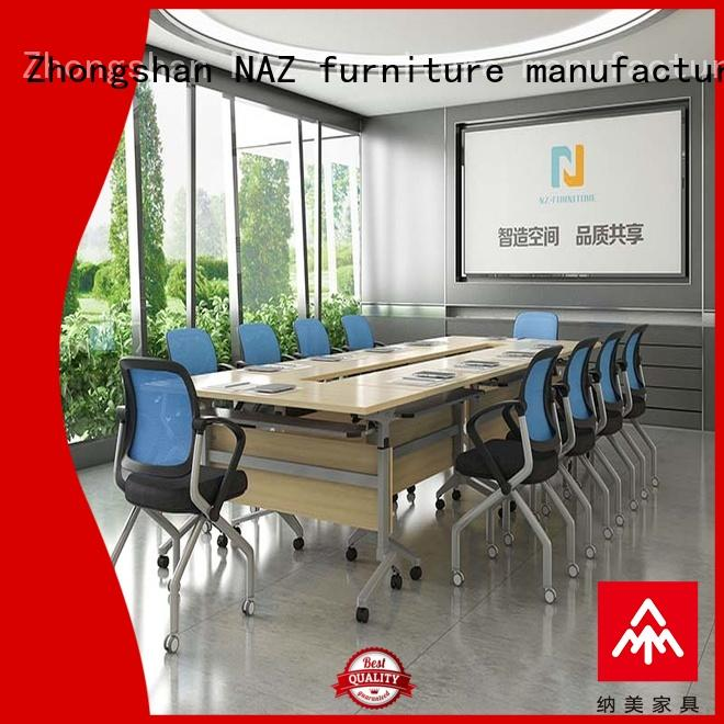 NAZ furniture oneclick 10 conference table on wheels for training room