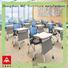 NAZ furniture movable folding school desk on wheels for office