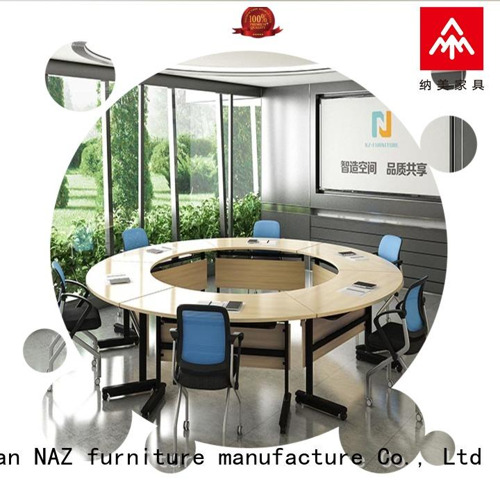 NAZ furniture midtohigh modular conference room tables on wheels for school