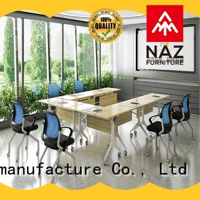 NAZ furniture durable 12 conference table on wheels for school