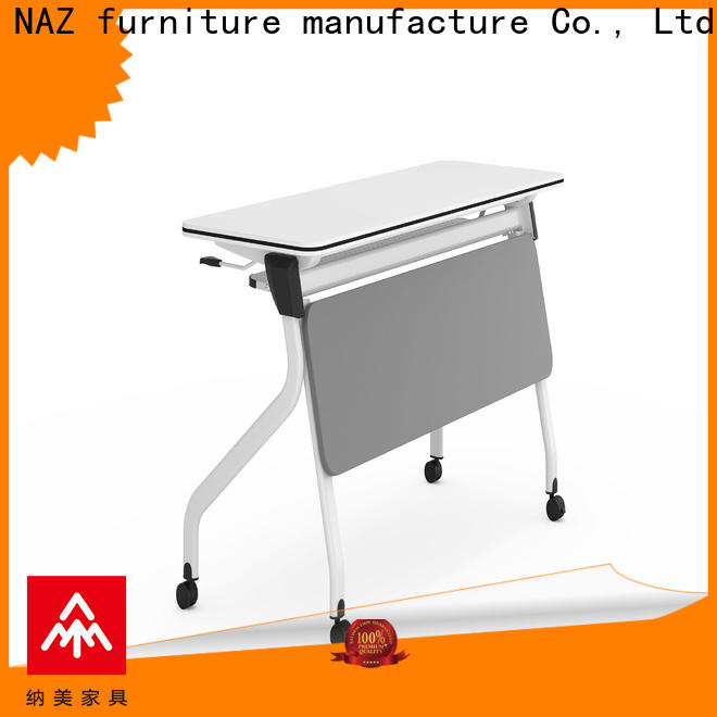 NAZ furniture table folding training table with wheels for home