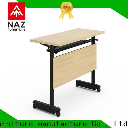 trapezoid training table save with wheels for office