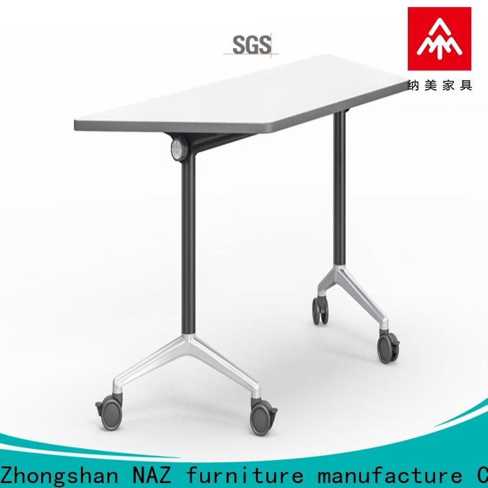 NAZ furniture trapezoid foldable training table with wheels for office