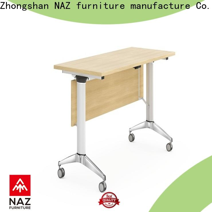 NAZ furniture base aluminum training table with wheels for home