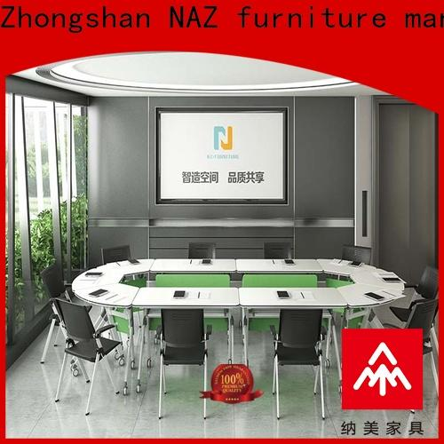NAZ furniture ft013c square conference table on wheels for meeting room