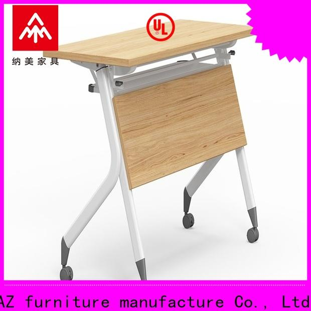 NAZ furniture front training table design with wheels for meeting room