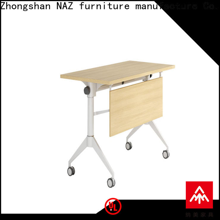 NAZ furniture writing nesting training tables with wheels for meeting room