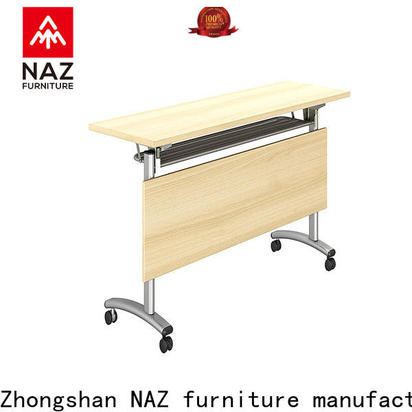 professional training tables with wheels ft002 with wheels for meeting room
