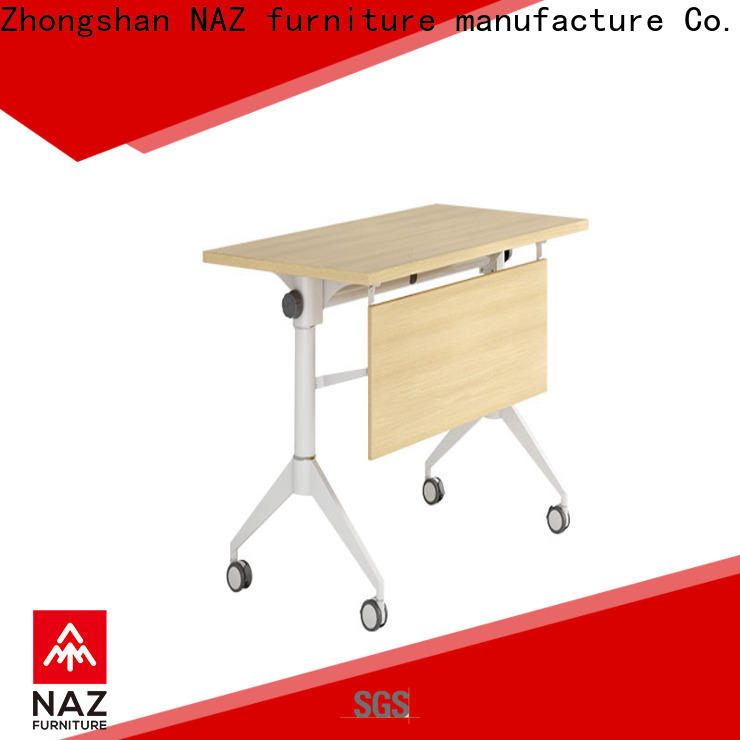 trapezoid computer training tables table with wheels for meeting room
